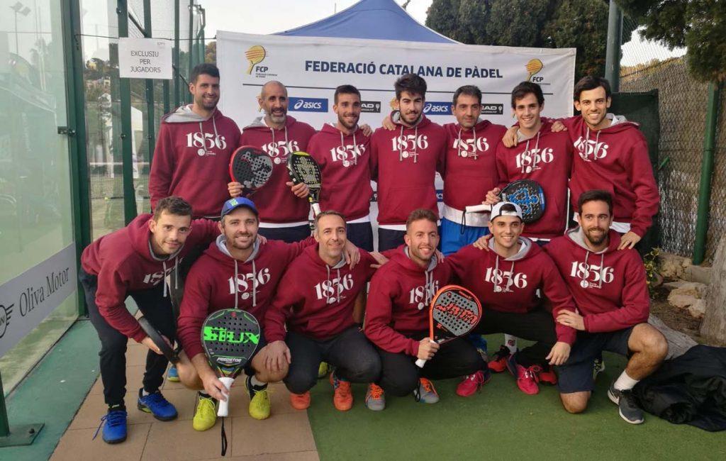 Equipo de padel del Cercle Sabadellenc 1856 para el Campeonato de España por equipos